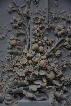 Dark grey painted wood panel or door - beautiful detailing