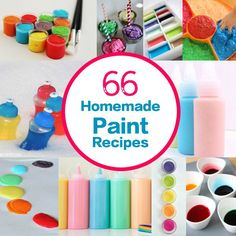 Share this post...Here are 66 Homemade Paint Recipes for Children's Art and Craft! You name it – it's here! Paint for Paper – Bath – Walls – Windows – Hands and Feet. There is body paint and finger paint – Glitter paint and Glue Paint – Bubble Paint – Gel Paint – Watercolors – Taste ...
