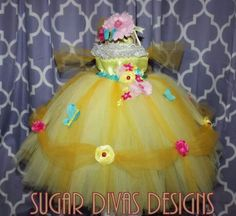 Disney Belle or sleeping beauty inspired tutu dress for birthday easter spring yellow tutu dress butterfly flower tutu dress all handmade details by Sugar Divas Designs on Etsy www.etsy.com/shop/SugarDivasDesigns https://www.etsy.com/listing/177030648/reserved-listing-i-scobee?ref=listing-shop-header-0