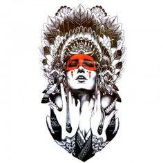 Tatouage-ephemere-Femme-Indienne