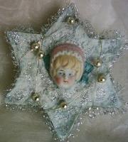 Repro cotton ornament w china head