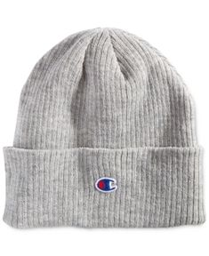 00f6daec7def40 Champion Men's Cuffed Beanie - Gray Beanie Outfit, Grey Beanie, Hats For  Men,