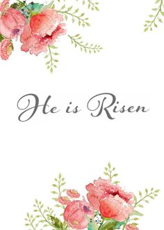 Spring and Easter Watercolor Printables are an inexpensive way to change the decor of your home to match the season. These beautiful watercolor printables are perfect for spring. Jesus Is Risen, He Has Risen, Encouragement, Lord And Savior, God Is Good, Christian Quotes, Christian Faith, Gods Love, Post Today