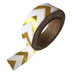 """Masking tape """"Zigzag"""" goudfolie"""
