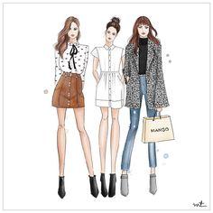 Girl gang is heading to shopping. Sales are on! . . #shopping #girls #mango #zara #shoppingmania #fashion #fashionsketch #fashionblogger #illustration #style #illustrationoftheday #fashionillustration #creativity #digital #sketch #ink #watercolor #inspo #mood #sales #work #pretty