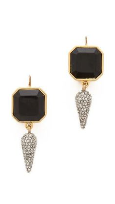 Juicy Couture | Black and Gold spike drop earrings