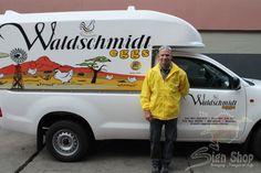 Vehicle branding done for Waldschmidt Eggs