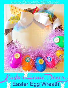 {Easter Home Decor} Easter Egg Wreath