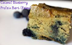 Dairy free, gluten free, soy free blueberry coconut bars