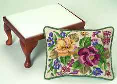 Floribunda Tapestry Needlepoint Cushion or by ColeshillCollection