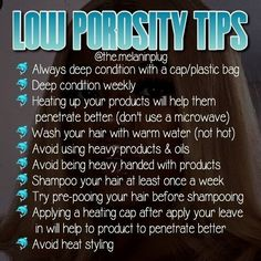 Is your hair low porosity or is it high porosity? Knowing can really switch up your hair game. Natural hair, low porosity tips. Is your hair low porosity or is it high porosity? Knowing can really switch up your hair game. Natural hair, low porosity tips. Natural Hair Care Tips, Natural Hair Regimen, Natural Hair Journey, Natural Hair Styles, Natural Haircare, How To Grow Natural Hair, 4b Hair Tips, Low Porosity Hair Products, Hair Porosity