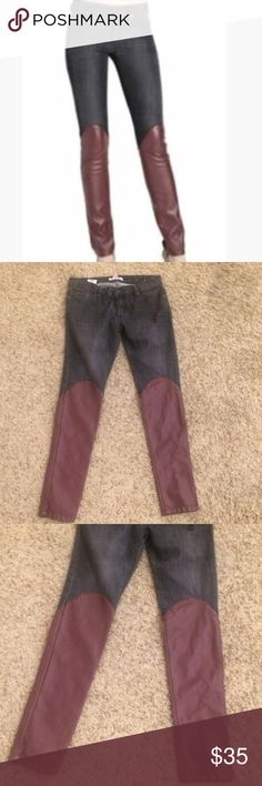Bcbg vegan leather skinnies Excellent condition!! BCBGeneration Jeans Skinny