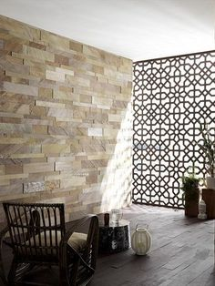 Slate #wall tiles MURALES by ARTESIA® / International Slate Company #mashrabiya #interiors