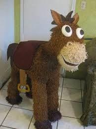 Piñatas~Toy Story Bulls-eye horse pinata via Etsy . Cowboy Theme Party, Cowboy Birthday Party, Elmo Party, Farm Party, Woody Birthday Parties, Woody Party, Toy Story Birthday, 3rd Birthday, Cumple Toy Story
