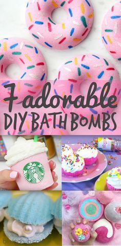 TOP 7 ADORABLE DIY BATH BOMBS