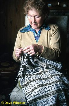 Anne Sinclair, master knitter of Fair Isle has local roots older than 1690 and inherited her crafts from her mother. She has researched, lectured and published material on Fair Isle history, folklore, culture and dialect. She is also an excellent singer.