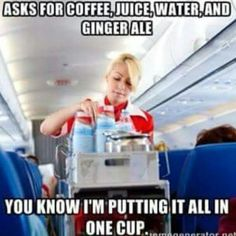 Ha ha!! The multi-beverage request...