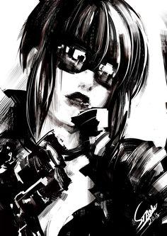 Motoko Kusanagi, Stanley Barros on ArtStation at https://www.artstation.com/artwork/motoko-kusanagi-a272dc9b-b69d-4856-bdd3-3bed748213d1