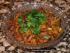 Rajma (Kidney beans) sabji from INRecipes iOS application.