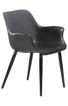 Danform Esszimmerstuhl mit Armlehne schwarz Combino