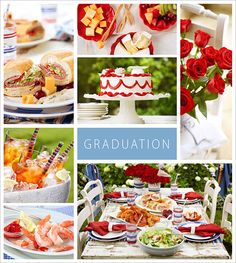 """Graduation - substitute photos of graduate for the food photos & add open house info in """"graduation"""" box"""