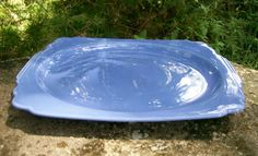 "40.00 Homer Laughlin ""Riviera"" Ceramic Platter 11.5""L Century Mauve Blue"