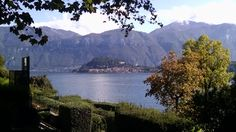 From the town of Tremezzo, Lake Como looking back at Bellagio.  October 2015.  This is only a 10 minute ferry ride.  All the mid lake towns can be done in a day or two.