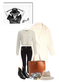 """Floppy Fedora"" by batsoulini ❤ liked on Polyvore featuring Mode, Elizabeth and James, Morgan, Madewell, rag & bone, Yves Saint Laurent, 2NDDAY, Jules Smith, Casio und Fedora"