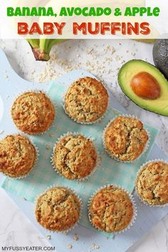 Delicious oat muffins with no added sugar or honey; sweetened naturally with ban… Delicious oat muffins with no added sugar or honey; sweetened naturally with banana, avocado and apple sauce! Great for baby led weaning and older kids too! Easy Meals For Kids, Meals For One, Meals For Babies, Recipes For Babies, Recipes For Toddlers, Baby Food Recipes, Healthy Recipes, Banana Recipes Baby, Toddler Recipes