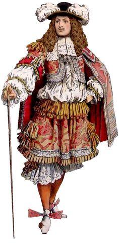 Gentilhomme portant une rhingrave