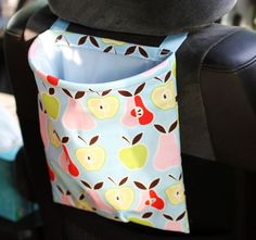 Car Trash Bag Reusable Auto Garbage or Storage. Would like these in fabrics for both men and women for gift giving.