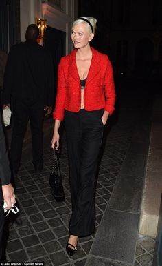 Lady in red! Karlie Kloss looked better than ever between catwalks night as she attended the Rimowa dinner at 1728 restaurant on September 26, 2017 in Paris, France