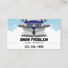 Shop Snow Plow Service Business Card created by ajaxouch. Personalize it with photos & text or purchase as is! Simple Business Cards, Business Card Size, Business Ideas, Snow Removal Services, Shoveling Snow, Commercial Landscaping, Snow Plow, Company Names, Business Marketing