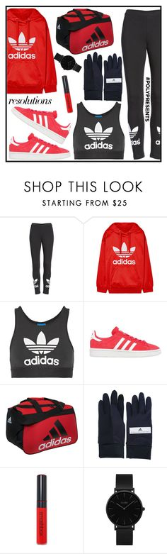 """#PolyPresents: New Year's Resolutions"" by tlb0318 on Polyvore featuring adidas, adidas Originals, Smashbox and CLUSE"