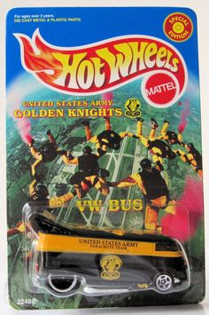 1999 Hot Wheels Limited Edition Gloden Knights VW Drag Bus