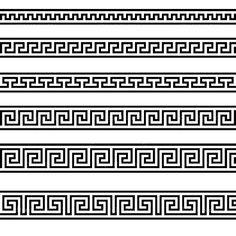 Is it a Mistake To Decorate With A Greek Key Motif? Is it a Mistake To Decorate With A Greek Key Motif? Geometric Pattern Tattoo, Pattern Tattoos, Abstract Pattern, Geometric Tattoos, Geometric Designs, Versace Tattoo, Versace Logo, Tattoos Schulter, Versace Pattern