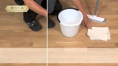 How to..... All in one box to clean and to rejuvenate lacquered wooden floors, laminat - or vinyl flooring.
