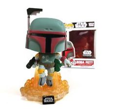FUNKO POP Star Wars Smugglers Bounty Boba Fett (Jetpack) #102 EXCLUSIVE Mint