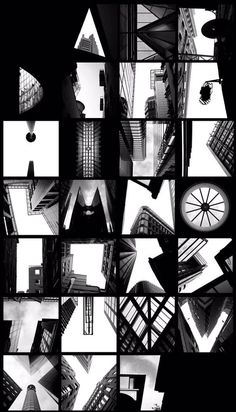 @wayneford. An alphabet created by photographer Peter Defty for todays  #Photographic theme  via @ladiebirdy77