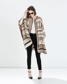 Pin for Later: 12 Gorgeous Autumn Finds Your Friends Won't Believe You Got at Zara Zara Poncho Coat Zara Wool Poncho Coat Poncho Coat, Blanket Coat, Poncho Sweater, Grunge Look, Fall Winter Outfits, Autumn Winter Fashion, Poncho Mantel, Outfit Elegantes, Mode Blog
