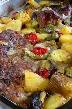 Oven Chicken Recipes, Pork Recipes, Cookbook Recipes, Cooking Recipes, Greek Cooking, Greek Dishes, Weird Food, Happy Foods, Christmas Cooking