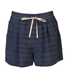 3.1 Phillip Lim Floating Stripe Applique Drawstring Shorts - Knit Wit - farfetch.com - StyleSays