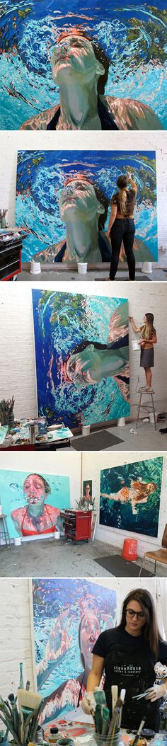 """The Jealous Curator /// curated contemporary art - Samantha French NY /// """"ebb and flow"""""""