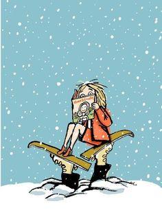 Winter reading / Lectura invernal by Robert Neubecker