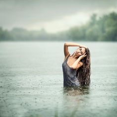Photo Spring Rain by E. Studio on // steffany, love this pose for the water shoot - coming out and stuff -sarah Rain Photography, Boudoir Photography, Portrait Photography, Photography Ideas, Portrait Inspiration, Photoshoot Inspiration, Water Shoot, Jolie Photo, Pictures