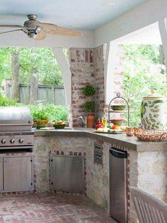 Cocinas de exterior: De piedra
