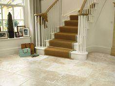 love the large tile size - Savannah natural stone floor tiles