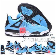 Nike Air Jordan 4 | Classique Chaussure De Basket Homme Bleu Clair