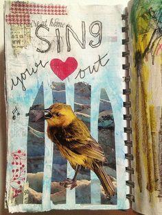 Art Journal Pages, Journal 3, Daily Journal, Smash Book, Moleskine, Cool Journals, Art Journals, Notebook Collage, Glue Book