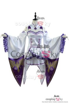 c713a4f795 Re:Zero Life in a Different World from Zero Emilia Outfit Cosplay Costume,  it can be custom made for both children and adults. The best choice for  comic con ...